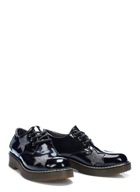 İnci Bağcıklı Ayakkabı Siyah